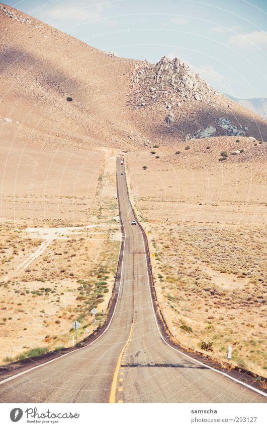Roadtrip Ferien & Urlaub & Reisen Tourismus Ausflug Ferne Sommer Sommerurlaub Umwelt Natur Landschaft Hügel Felsen Wüste Verkehr Verkehrswege Straßenverkehr