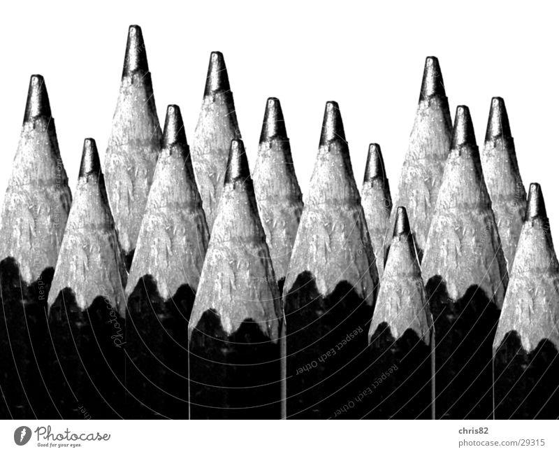 Bleistifte Schreibstift Arbeit & Erwerbstätigkeit Montage Collage schreiben Schwarzweißfoto Makroaufnahme Business