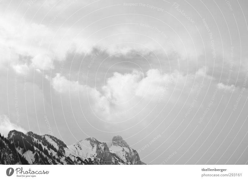 Which are the real Mountains? Natur Landschaft Himmel Wolken Gewitterwolken Winter Felsen Alpen Berge u. Gebirge Gipfel Schneebedeckte Gipfel Aggression
