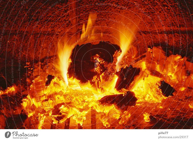 Feuer Licht Langzeitbelichtung Brand
