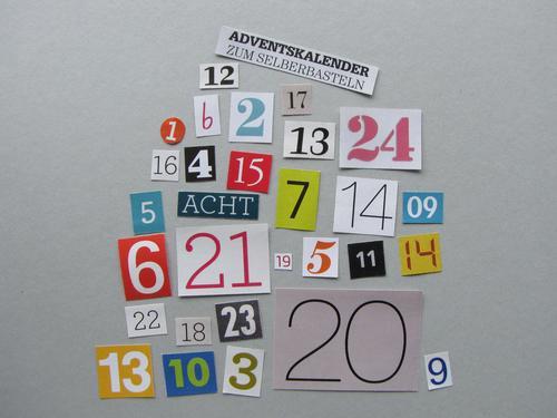 DIY Adventskalender Schriftzeichen Ziffern & Zahlen wählen Kommunizieren machen einzigartig lustig mehrfarbig grau Gefühle Freude Vorfreude Idee Kindheit