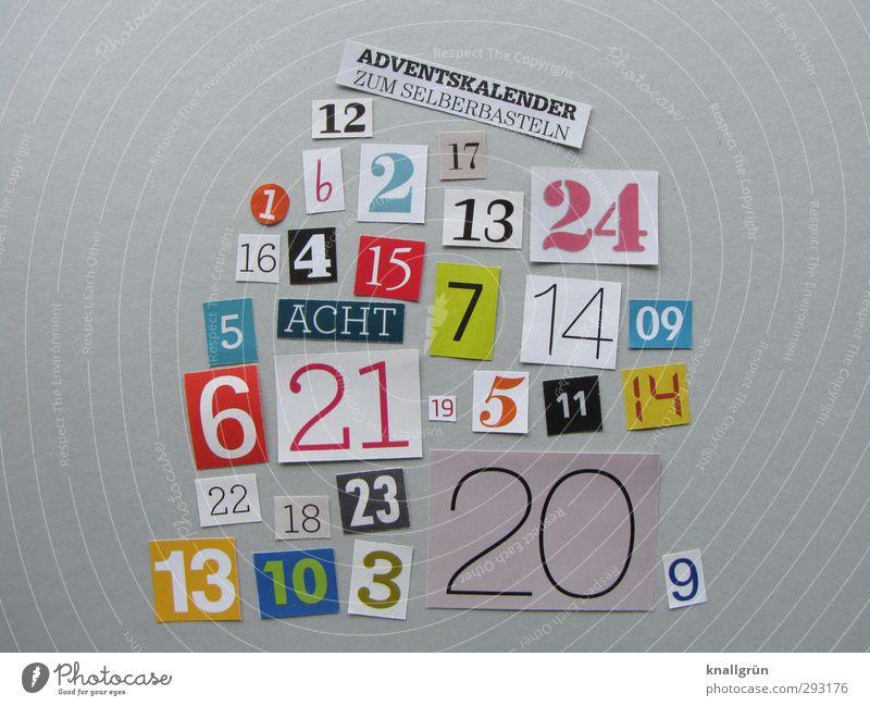 DIY Weihnachten & Advent Freude Gefühle lustig grau Kindheit Kommunizieren Schriftzeichen Ziffern & Zahlen einzigartig Kreativität Idee machen Feiertag wählen Vorfreude