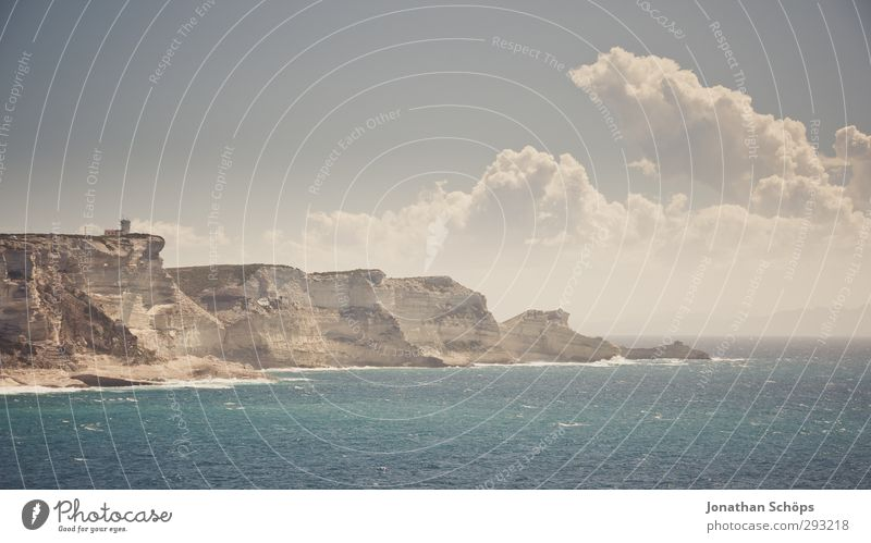 Korsika XXVII Himmel Natur Ferien & Urlaub & Reisen Sommer Meer Landschaft Wolken Erholung Umwelt Freiheit Schwimmen & Baden Horizont Felsen Wellen Insel Idylle