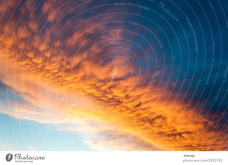 Wolkerei Natur Sommer blau Wolken Umwelt orange Wetter Wandel & Veränderung Urelemente Klimawandel nur Himmel