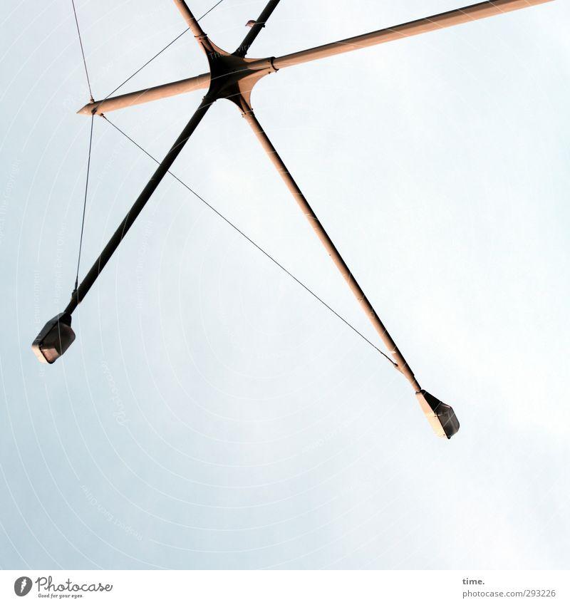 Hamburger Wäschetrockner Technik & Technologie Straßenbeleuchtung Kunst Skulptur Architektur Metall Stahl außergewöhnlich eckig elegant hoch dünn Stadt