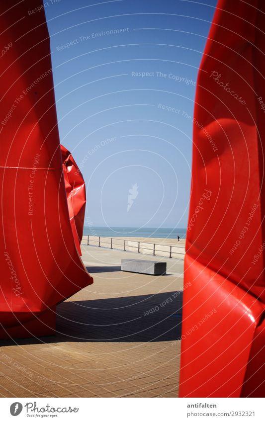 Kunst am Meer Ferien & Urlaub & Reisen Natur Sommer Wasser Landschaft Sonne Ferne Strand Umwelt Frühling Küste Tourismus Freiheit orange