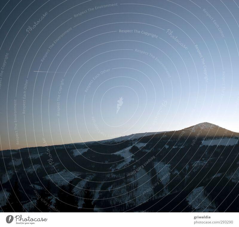 ciao klippitz blau Ferien & Urlaub & Reisen weiß Einsamkeit Landschaft Winter ruhig schwarz Wald Berge u. Gebirge Schnee Freiheit grau Ausflug Abenteuer