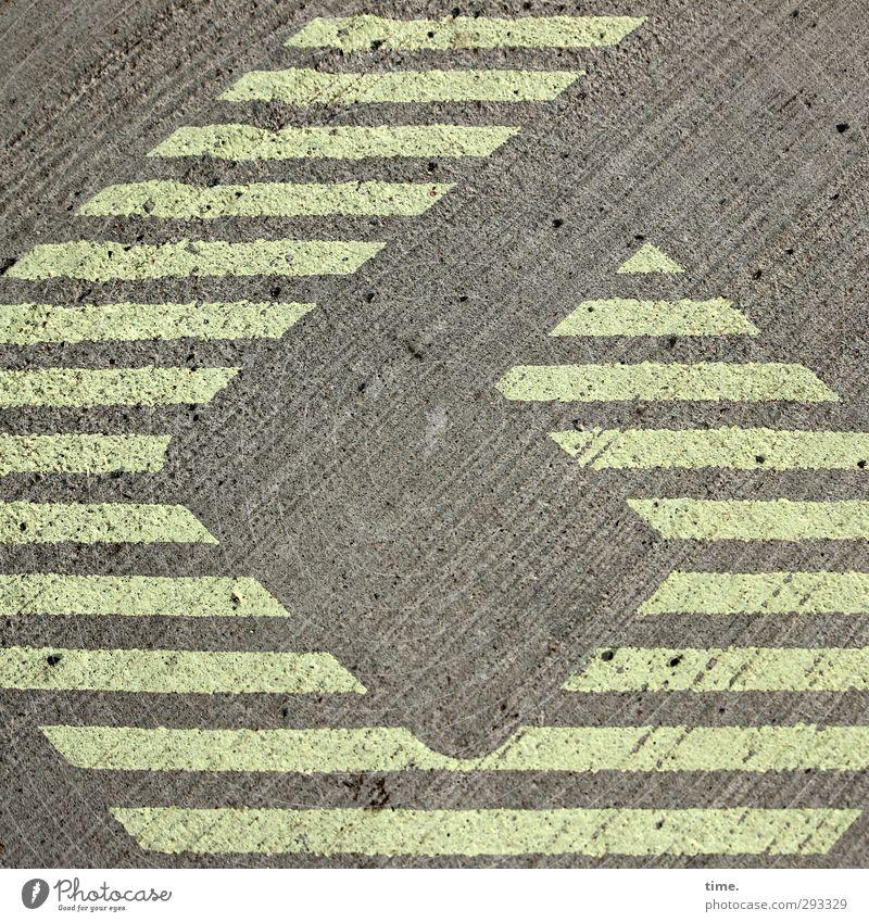 Gunstwerk Kunst Verkehrswege Straße Wege & Pfade Beton Zeichen Schilder & Markierungen eckig Hoffnung Inspiration Konzentration Rätsel skurril Öffnung