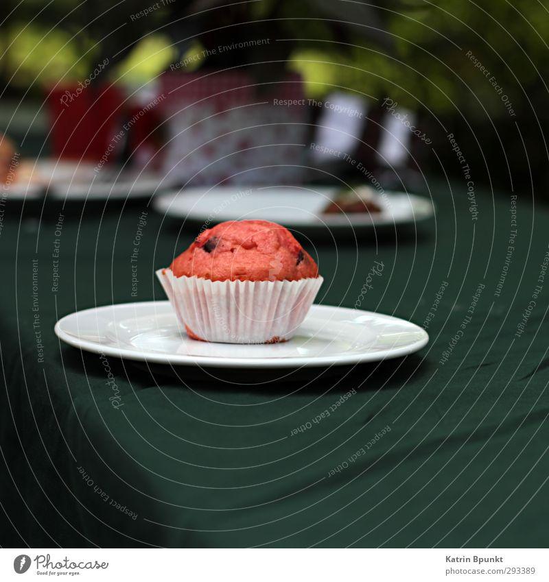 plate cake Lebensmittel Kuchen Muffin Kaffeetrinken Büffet Brunch Feste & Feiern Geburtstag lecker Farbfoto Außenaufnahme Textfreiraum unten