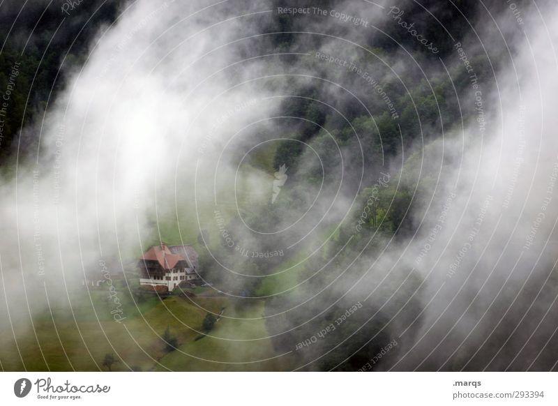 Mittelgebirge Natur Landschaft Wolken Haus Wald Umwelt dunkel Wiese Berge u. Gebirge Herbst Frühling Gebäude Stimmung außergewöhnlich Wetter Klima