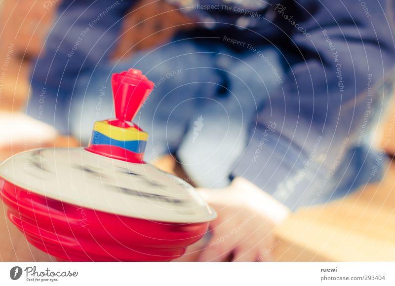 Und ab die Luzi! Mensch blau rot Leben Spielen Junge Holz Metall braun Kindheit maskulin Freizeit & Hobby Geschwindigkeit rund Kunststoff Spielzeug