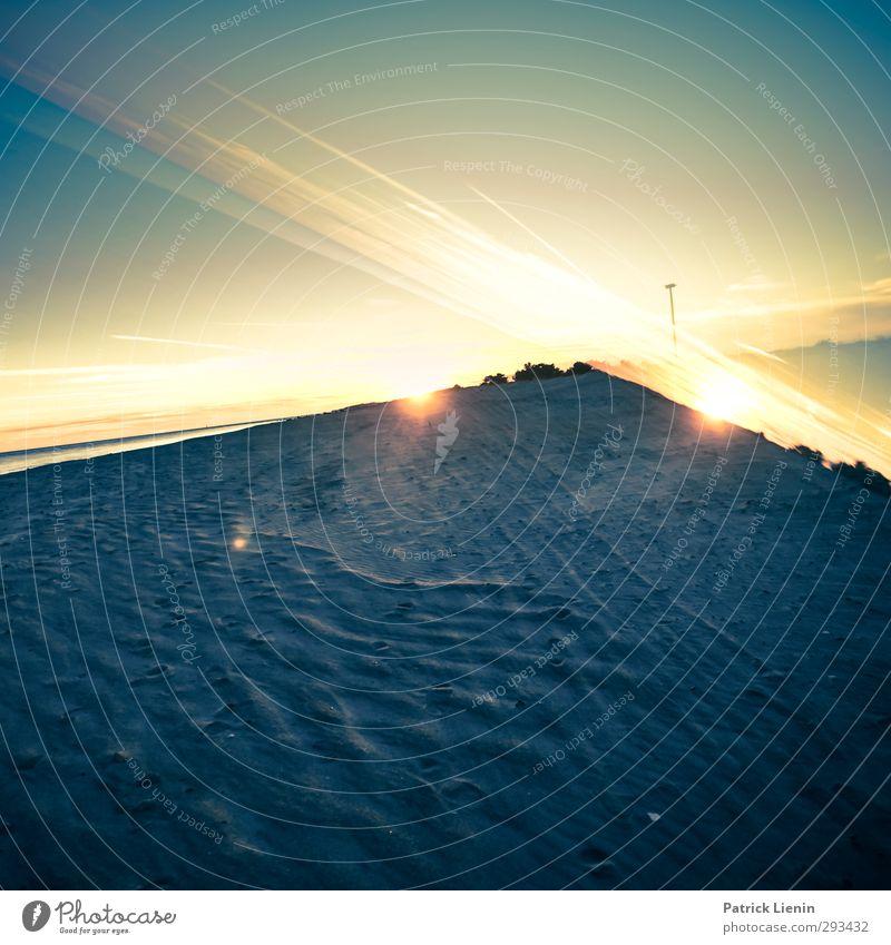 Surreal Unreal Umwelt Natur Landschaft Klima Wetter Wellen Strand Abenteuer Farbfoto mehrfarbig Außenaufnahme Experiment Abend Dämmerung Licht Kontrast