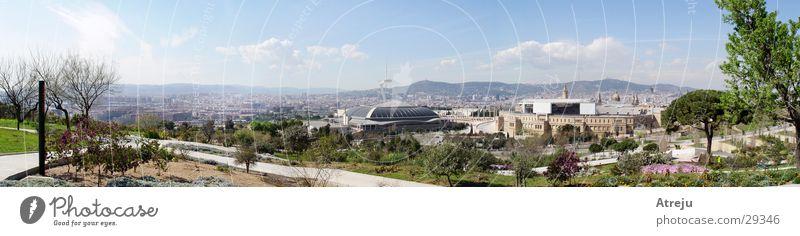Barcelona Panorama 02 München groß Europa Spanien Panorama (Bildformat) Olympiahalle Jardi Botanic