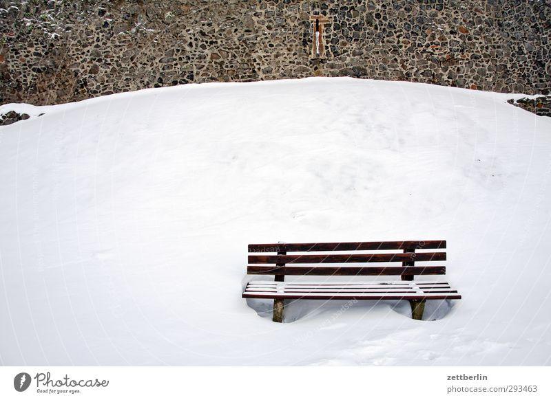 Bank Natur Ferien & Urlaub & Reisen Landschaft Winter ruhig Umwelt kalt Schnee Garten Park Wetter Klima Freizeit & Hobby Tourismus Häusliches Leben Ausflug