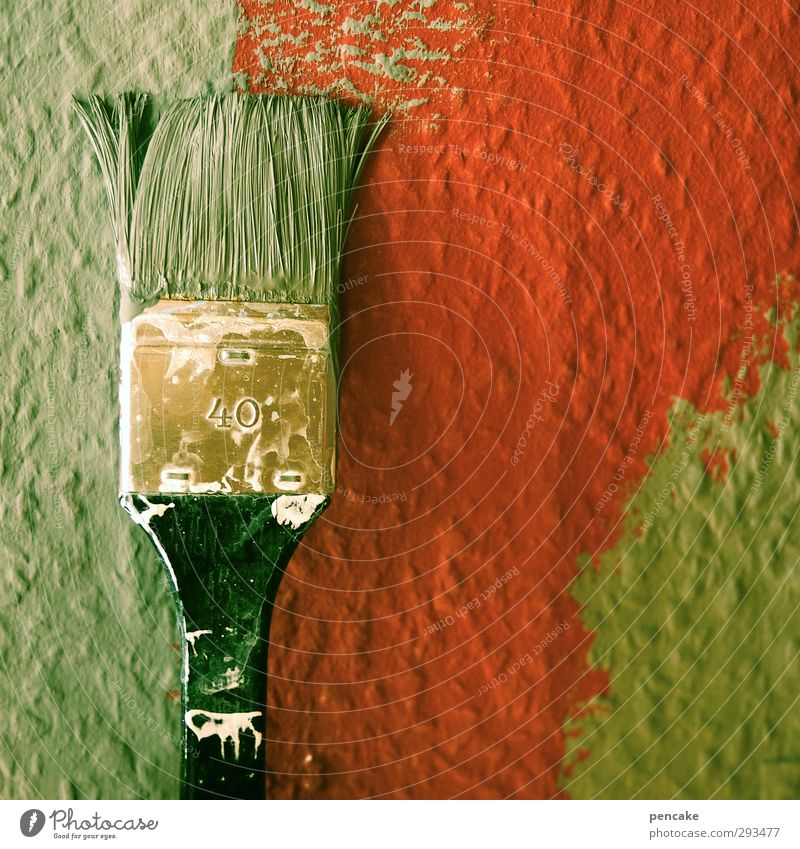 alle jahre wieder Handwerker Baustelle wählen machen grün rot Pinsel malen Renovieren streichen Farbstoff Tapetenwechsel neu Frühjahrsputz 40