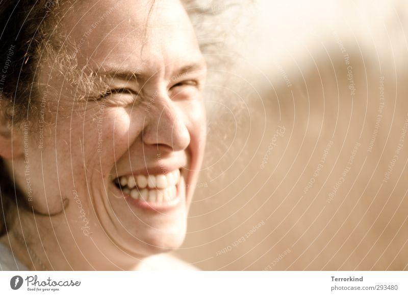Hiddensee | grinse.katze Mensch feminin Junge Frau Jugendliche Erwachsene Kopf Auge Nase 1 18-30 Jahre Natur Lächeln lachen authentisch frei Fröhlichkeit frisch