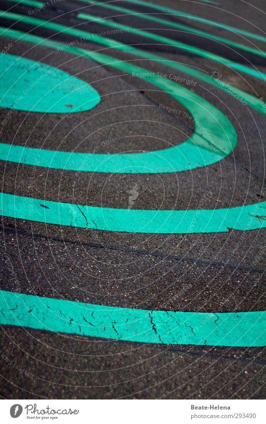 Round and round it goes Ausflug Stadt Verkehrswege Straße Straßenkreuzung Stein Zeichen Schilder & Markierungen Bewegung drehen fahren springen ästhetisch