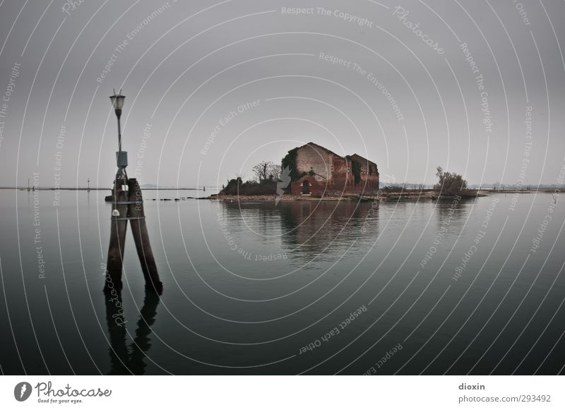 Laguna di Venezia -2- Ferien & Urlaub & Reisen alt Wasser Meer Landschaft Winter Haus Umwelt dunkel kalt Gebäude Nebel Insel Tourismus nass Ausflug