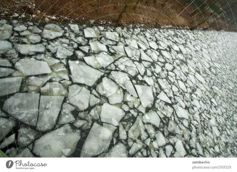 Treibeis Winter Güterverkehr & Logistik Umwelt Natur Landschaft Klima Klimawandel Wetter Eis Frost Küste Seeufer Flussufer Schifffahrt kalt Perspektive