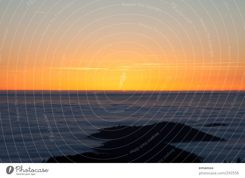 ocean of light Himmel Natur Ferien & Urlaub & Reisen Wasser Sonne Meer Landschaft Wolken Wald Umwelt gelb Berge u. Gebirge Luft Horizont Wetter Klima