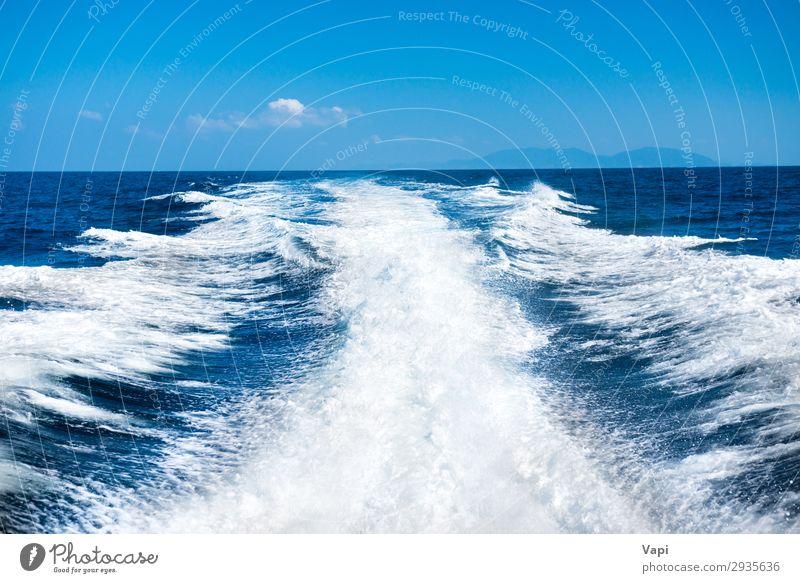 Himmel Ferien & Urlaub & Reisen Natur Sommer blau schön Wasser weiß Landschaft Meer Wolken Wege & Pfade Bewegung Tourismus Freiheit Wasserfahrzeug