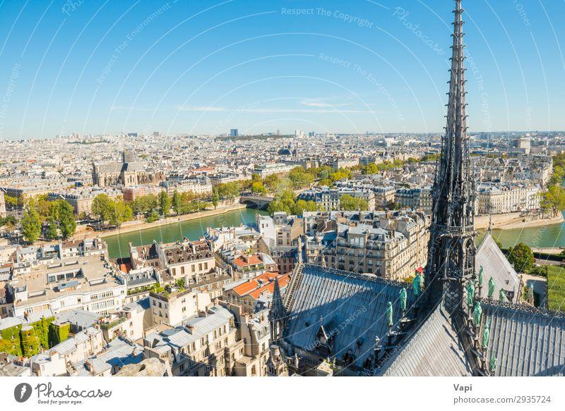 Pariser Stadtlandschaft mit Luftbildarchitektur schön Freizeit & Hobby Ferien & Urlaub & Reisen Tourismus Ausflug Abenteuer Ferne Sightseeing Städtereise