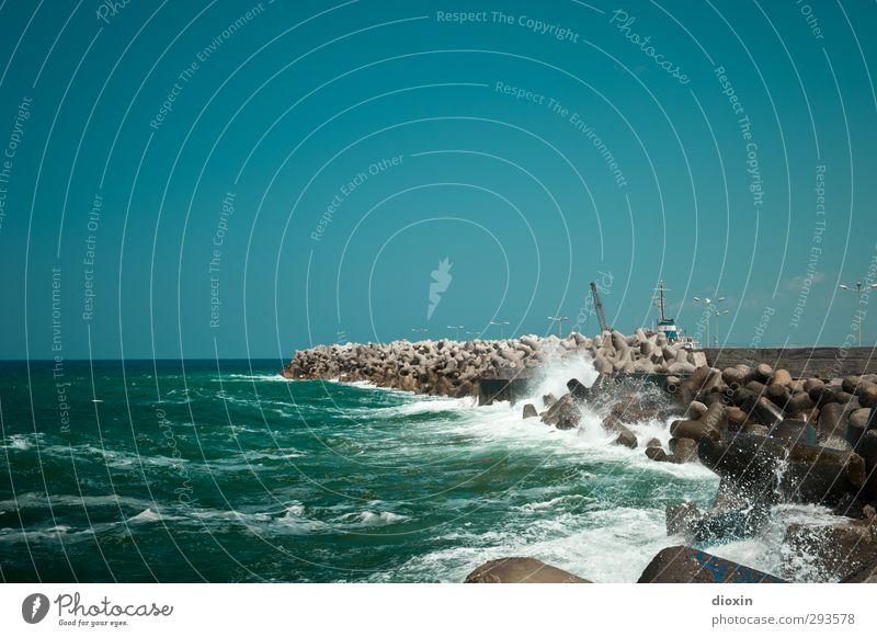 Lust auf Sommer?! Ferien & Urlaub & Reisen Tourismus Ferne Freiheit Sommerurlaub Meer Insel Wellen Landschaft Urelemente Wasser Wolkenloser Himmel Sonnenlicht