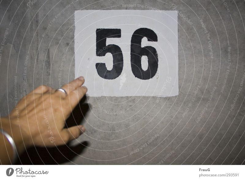 56 Mensch weiß Hand schwarz Erwachsene grau Schilder & Markierungen Finger 45-60 Jahre Ziffern & Zahlen Ring zeigen Tunnel Armreif