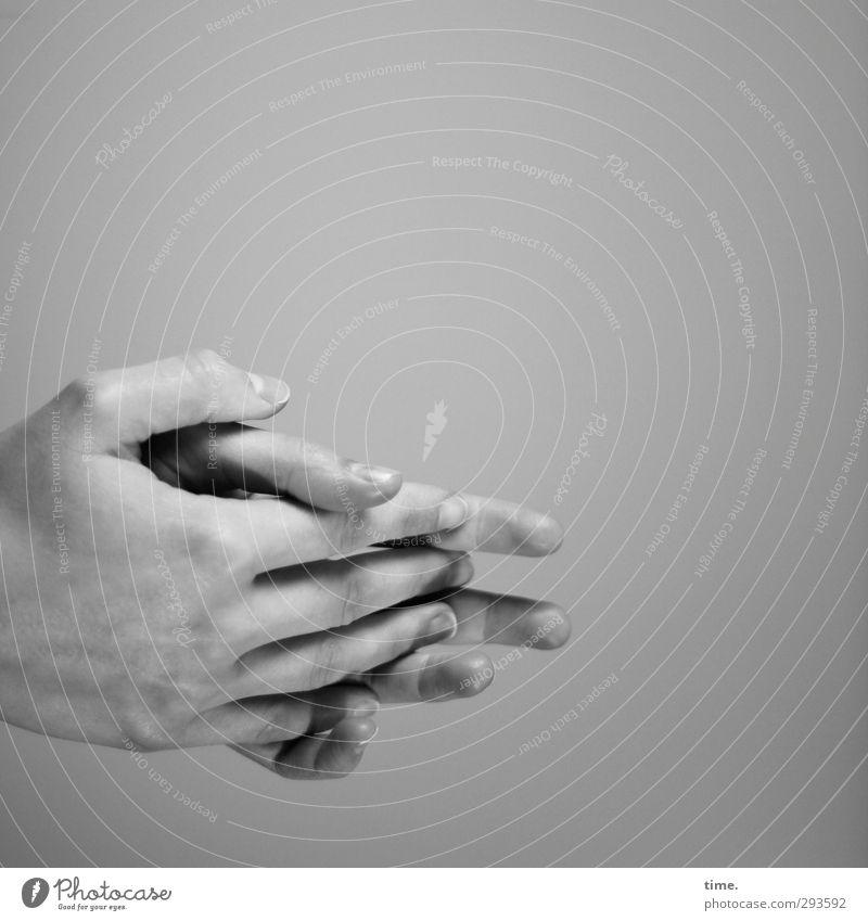 love the one you're with Mensch Hand nackt Wand Gefühle Mauer Freundschaft Stimmung Finger Sicherheit Wandel & Veränderung berühren Schutz Vertrauen