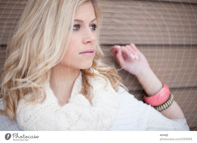 korall Mensch Jugendliche schön Junge Frau Erwachsene feminin 18-30 Jahre blond
