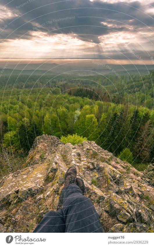 wunderschönes Nord - Hessen Umwelt Natur Landschaft Pflanze Himmel Wolken Horizont Sonne Sonnenaufgang Sonnenuntergang Frühling Sommer Herbst Klima
