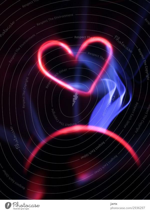 the power of love I Technik & Technologie High-Tech Energiewirtschaft Glas Herz leuchten außergewöhnlich heiß hell Optimismus Liebe Romantik Leben Elektrizität