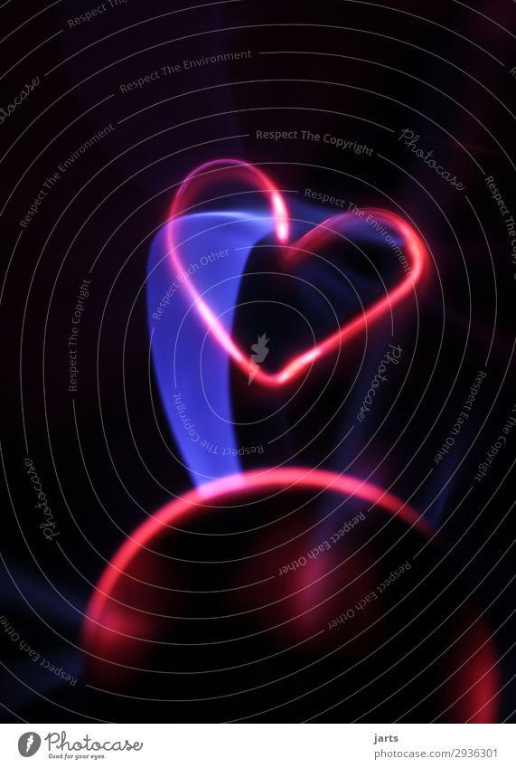 power II Technik & Technologie Fortschritt Zukunft High-Tech Energiewirtschaft Glas Herz leuchten Liebe außergewöhnlich heiß Plasmaglobus Farbfoto
