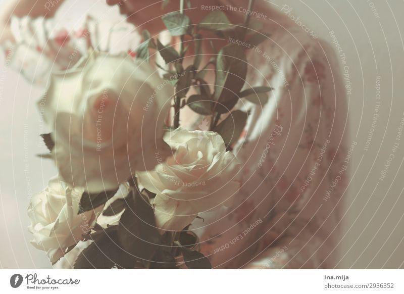 _ Frau Mensch Natur Jugendliche Junge Frau Sommer Pflanze schön weiß Blume 18-30 Jahre Lifestyle Erwachsene Umwelt feminin Feste & Feiern