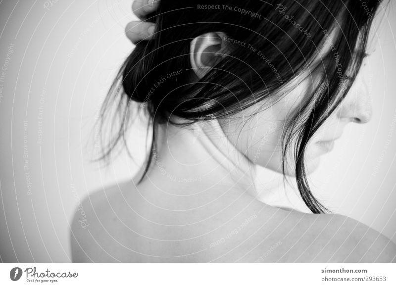 Portrait Mensch Jugendliche schön nackt ruhig Erholung Erwachsene Liebe Erotik feminin Haare & Frisuren 18-30 Jahre Gesundheit Körper Haut Sex