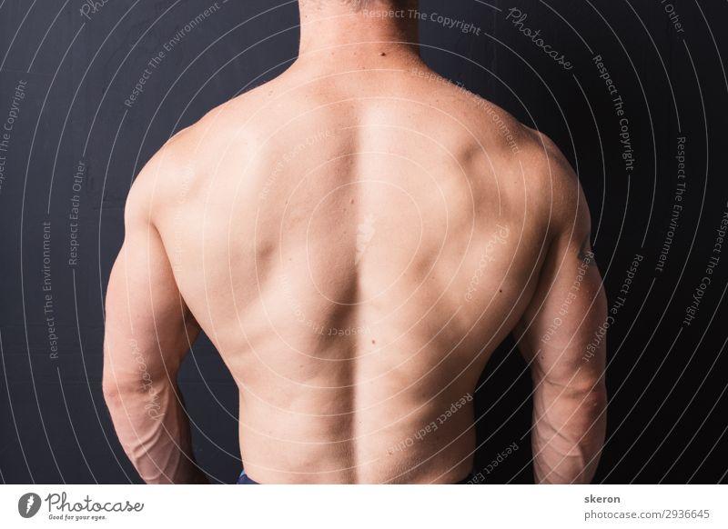 starker Bodybuilder Rücken Lifestyle Körper Gesundheitswesen Wellness Sport Fitness Sport-Training Sportler Kindererziehung Bildung Mensch maskulin 1