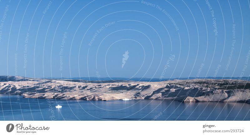 Sonne, Wärme, Urlaub Umwelt Natur Landschaft Erde Luft Wasser Himmel Wolkenloser Himmel Horizont Sommer Schönes Wetter Berge u. Gebirge Küste Meer Mittelmeer