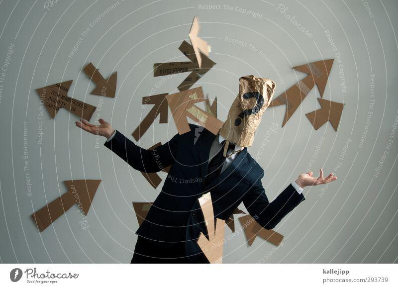 public affairs Mensch Mann Erwachsene Business Arbeit & Erwerbstätigkeit Büro maskulin Schriftzeichen planen Zeichen Bildung Pfeil Futurismus Zukunftsangst