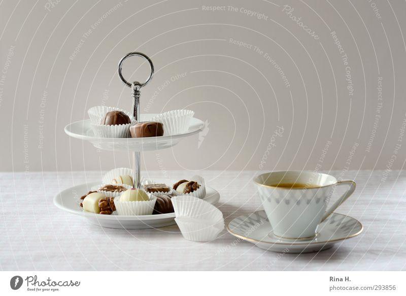 KaffeePause hell Ernährung süß genießen lecker Süßwaren Geschirr Tasse Schokolade Tischwäsche Espresso Konfekt Kalorie Heißgetränk