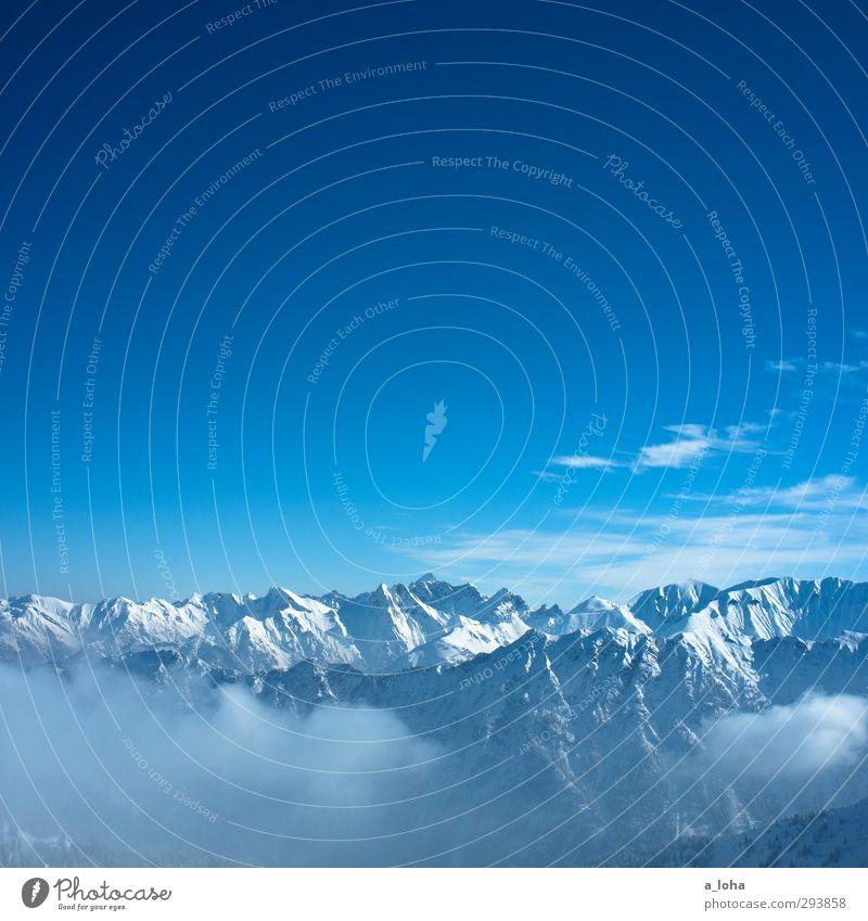 holes to heaven Himmel Natur blau schön weiß Einsamkeit Wolken Landschaft Winter Umwelt Ferne Berge u. Gebirge Schnee Luft Horizont Felsen