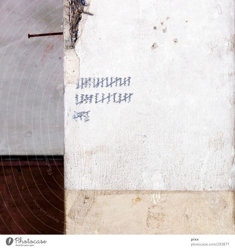 35 plus X Renovieren Umzug (Wohnungswechsel) Keller Handwerker Baustelle Feierabend Zeitmaschine Messinstrument Stein alt wählen Denken zeichnen warten dreckig