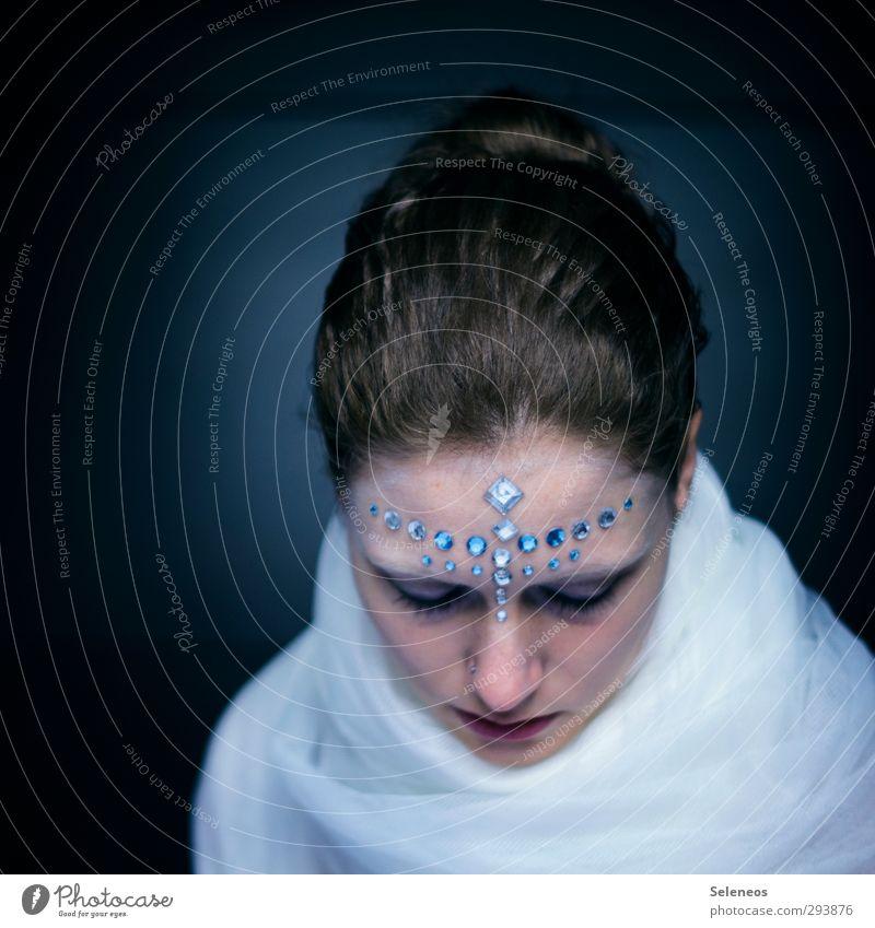 0o.o0 schön Haare & Frisuren Haut Gesicht Kosmetik Schminke Mensch feminin Frau Erwachsene Auge Nase Mund Lippen 1 Stoff Accessoire Schmuck Strasssteine