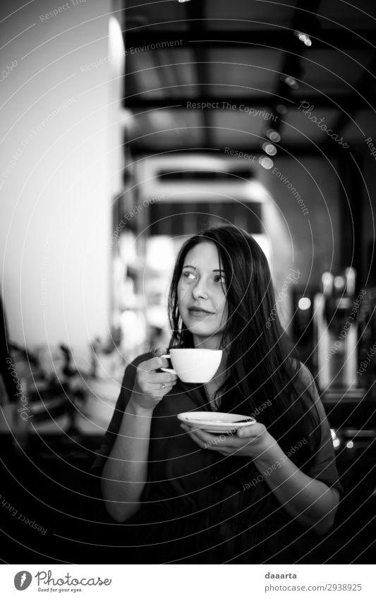zufrieden mit dem Kaffee 10 Getränk Heißgetränk Kakao Latte Macchiato Espresso Becher Lifestyle elegant Stil Freude Leben harmonisch Freizeit & Hobby