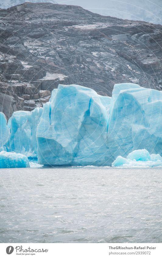 lago grey Natur Landschaft blau weiß Chile Gletscher Eis schmelzen Eisberg Eisscholle Strukturen & Formen Farbe bedrohlich Patagonien Südamerika Reisefotografie