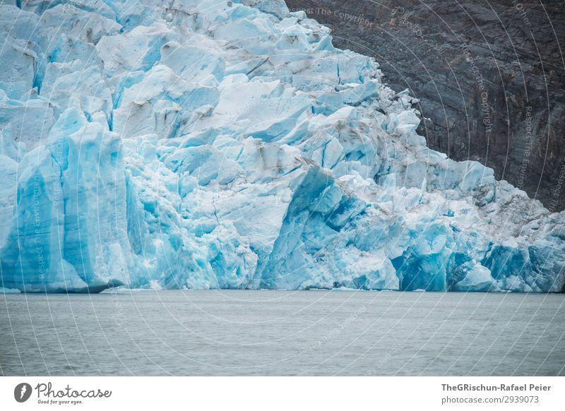 Gletscher Umwelt Natur blau weiß Perito Moreno Gletscher Eisberg Strukturen & Formen lake grey Chile schmelzen Wasser Schnee Patagonien Farbfoto Außenaufnahme