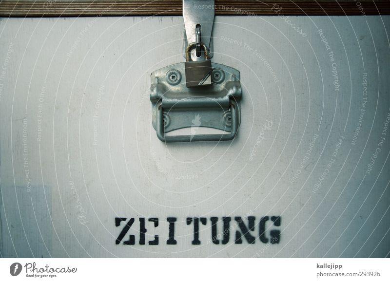 zensur Freiheit Schriftzeichen Bildung Zeitung Schloss Printmedien Klappe Verschluss Zensur Medienbranche