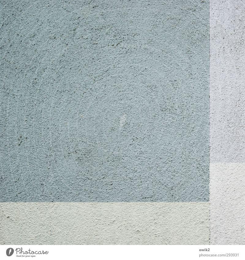 Aequilibrium Mauer Wand Fassade eckig einfach blau grau türkis blassblau grobkörnig Wärmeisolierung simpel Quadrat Rechteck rechtwinklig Linie Textfreiraum