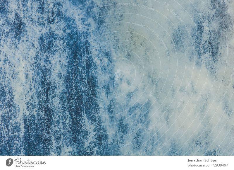 Wasserfall Textur Nahaufnahme Sommer blau weiß Hintergrundbild Leben Umwelt ästhetisch Insel nass Klima Urelemente Unwetter Sturm Klimawandel