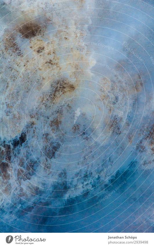 Wasserfall Textur Nahaufnahme blau weiß Hintergrundbild Leben Umwelt ästhetisch nass Unwetter Sturm Klimawandel Schottland spritzen Gischt extrem