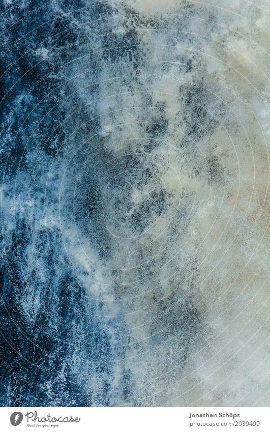 Wasserfall Textur Nahaufnahme Sommer blau weiß Hintergrundbild Leben Umwelt ästhetisch nass Sturm Klimawandel Schottland spritzen Gischt extrem